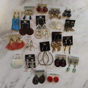 NEW 20 pairs costume jewelry earring lot
